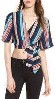 Lush Stripe Wrap Crop Top