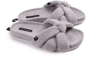 Pretty You London Ariel Indoor Outdoor Slider Slipper In Grey