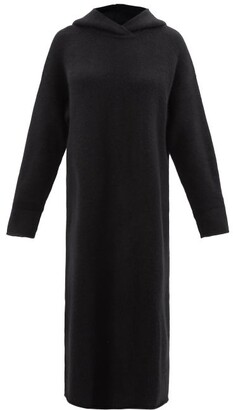 Raey Hooded Knitted Cashmere Maxi Dress - Black