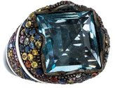 MCL by Matthew Campbell Laurenza Topaz & Pave Sapphire Ring