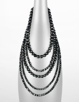R. J. graziano 5-Row Multiple Jet Black Bead Necklace