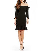 devlin Sandra Off-the-Shoulder Peplum Dress