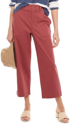 Sonoma Goods For Life Women's Now + Gen by Wide-Leg Utility Pants