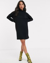 Noisy May roll neck mini knitted sweater dress