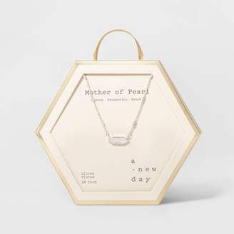 A New Day Boxed Hexagon with Semi-Precious Stone Bar Necklace