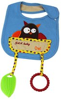 MagiDeal Cartoon Cotton Toddler Infant Baby Bibs Pinafore with Teethers