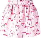 RED Valentino flamingo print skirt - women - Polyester - 42