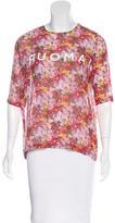 Roseanna Silk Floral Print Top