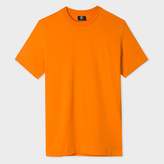Paul Smith Men's Slim-Fit Orange Embossed PS Logo Supima-Cotton T-Shirt