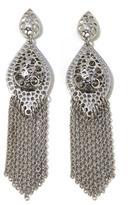 RJ Graziano Cutout Marquise Fringe Tassel Earrings