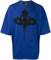 Vivienne Westwood logo print oversized T-shirt - men - Cotton/Spandex/Elastane - M