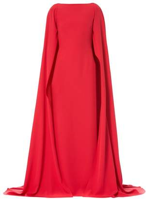 Carolina Herrera Silk Cape Gown