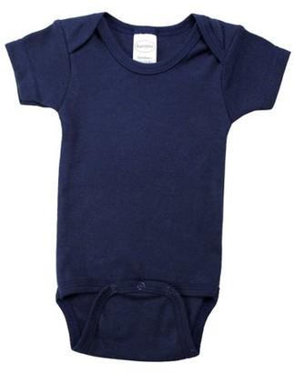 Bambini Navy Interlock Short Sleeve Bodysuit (Baby Boys or Baby Girls, Unisex)