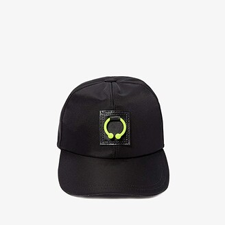 Neil Barrett Pierced Six Panels Baseball Cap (Black/Neon Yellow) Baseball Caps