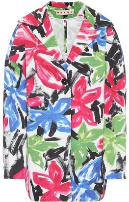 Marni Oversized floral cotton jacket