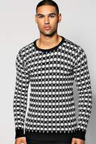 Boohoo Two Colour Knitted Jumper