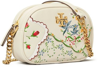 Tory Burch Kira Mixed-Floral Camera Bag