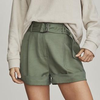 Elizabeth and James Women's Paperbag-Waist Shorts