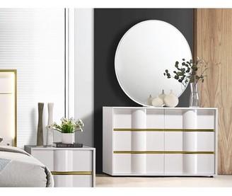 Milly 6 Drawer Double Dresser with Mirror Orren Ellis