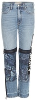 Marc by Marc Jacobs Acanthus Patched Printed High-rise Jeans