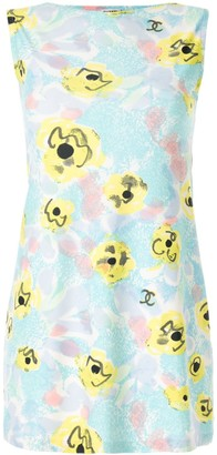 Chanel Pre Owned Abstract Print Mini Dress