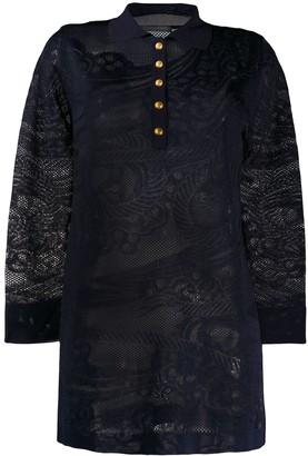 Alberta Ferretti Oversized Knitted Henley Shirt