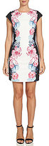 CeCe Floral Sheath Cap Sleeve Dress