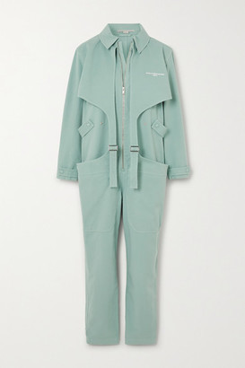 Stella McCartney Buckled Printed Stretch-cotton Jumpsuit - Mint