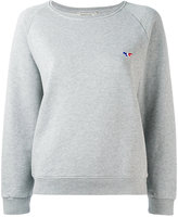 MAISON KITSUNÉ embroidered logo sweatshirt - women - Cotton - L