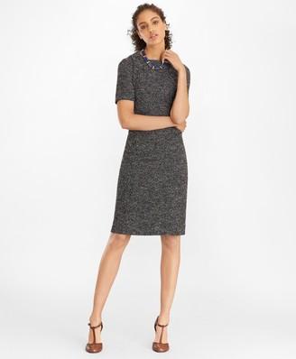 Brooks Brothers Boucle Tweed Sheath Dress