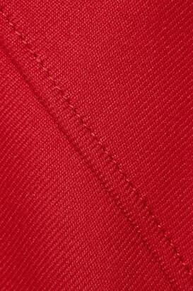 RED Valentino Gathered Drill Mini Dress