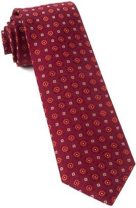 Tie Bar Midtown Medallions Burgundy Tie