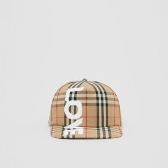 Burberry Love Print Vintage Check Baseball Cap