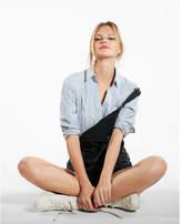 Express vertical stripe original long sleeve ultimate essential shirt