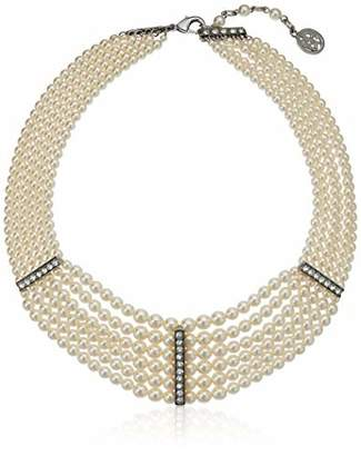 Ben Amun Jewelry Women's Pearl & Crystal Audrey Pearl Strand 3 for Bridal Wedding Anniversary