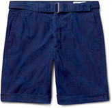 Officine Generale - Julian Slim-fit Cotton-jacquard Shorts