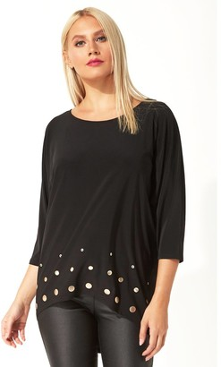 M&Co Roman Originals dip back stud embellished top