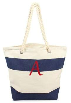 Cathy's Concepts Striped Rope-Handle Canvas Tote