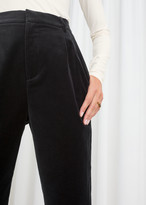 And other stories High Waisted Velvet Trousers