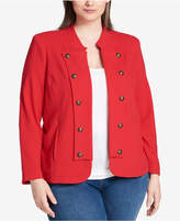 Tommy Hilfiger Plus Size Knit Jacket, Created for Macy's