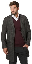 J By Jasper Conran Dark Grey Herringbone Epsom Jacket
