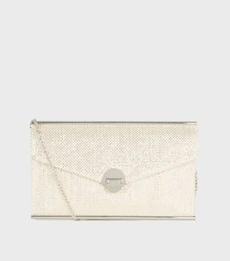 New Look Woven Metallic Clutch Bag