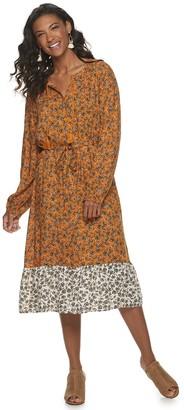 Sonoma Goods For Life Women's Ruffle Hem Dress