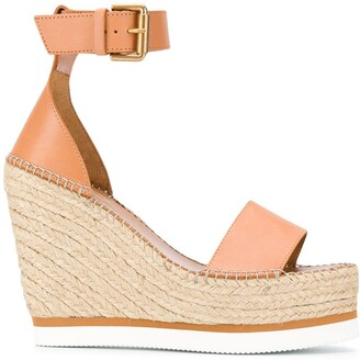 See by Chloe Buckled Wedge Heel Sandals