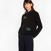 Paul Smith Women's Black Cashmere Sweater With Jewel Embellishments