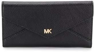 MICHAEL Michael Kors envelope grained-effect wallet