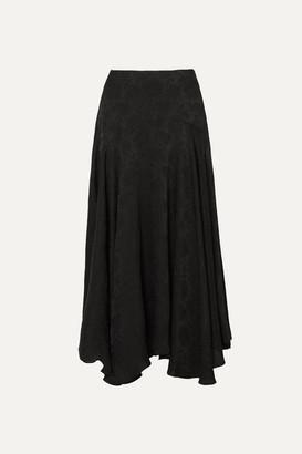 Chloé Plisse-jacquard Midi Skirt - Black