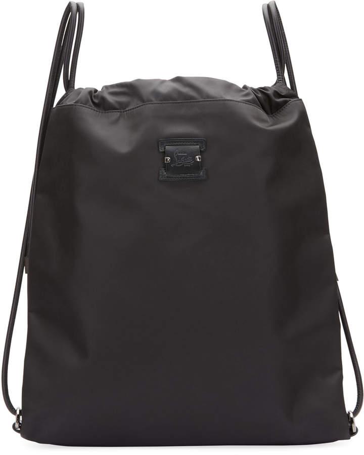 0fcc3e32e5c Men's Kaloubi Drawstring Backpack with Leather Trim