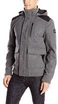 Buffalo David Bitton Men's Jutania Light Wool Hooded Jacket