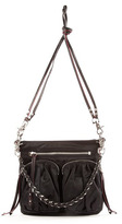 "M Z Wallace Sophie"" Black Nylon Crossbody Handbags"